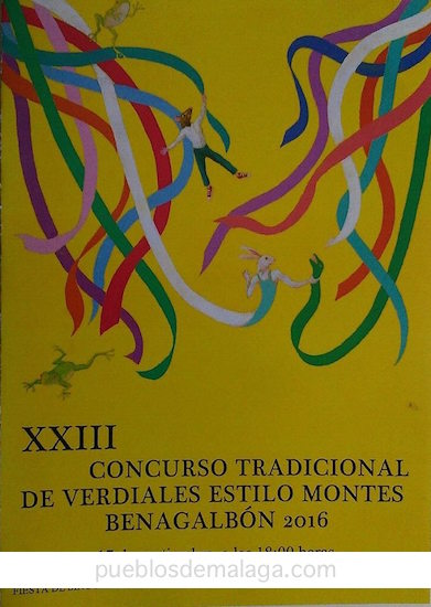 El cartel de la XXIII edición delConcurso de Verdiales de Benagalbón esobra del pintor malagueño Chema Lumbreras.