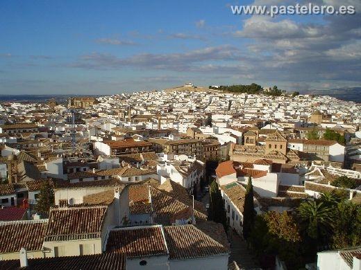 Vista de la ciudad de Antequera desde la Colegiata de Santa María La Mayor