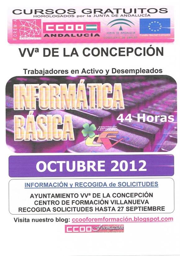 Curso gratis de informatica en Villanueva de la Concepción