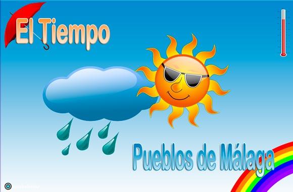 El Tiempo en Los Pueblos de Málaga. Pronostico del tiempo, temperaturas, lluvias, y tiempo previsto por horas de AEMET y estaciones meteorológicas