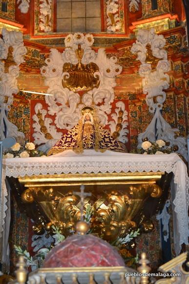 Virgen de los Remedios en su Ermita de Cartama