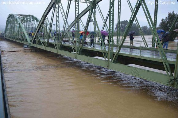 Estado del Rio Guadalhorce en el Puente de Hierro