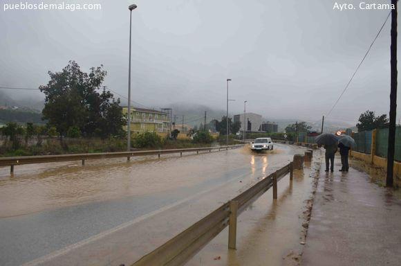 Desbordamiento del río en Cártama