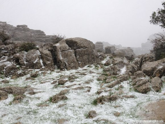 Snow in the Torcal de Antequera - November 11, 2012