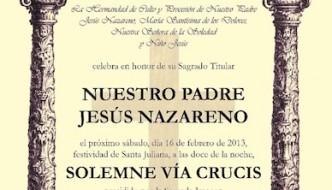 Vía Crucis de Nuestro Padre Jesús Nazareno de Almogía