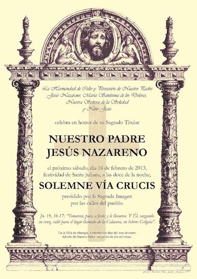 Via Crucis Jesús Nazareno Almogía