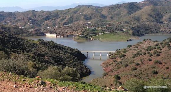 Presa de Casasola tras las lluvias que inundaron la barriada Campanillas de Málaga en Enero de 2020