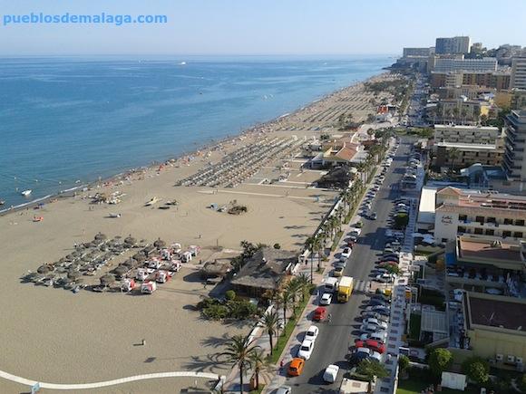 Vista desde arriba de la Playa de Torremolinos