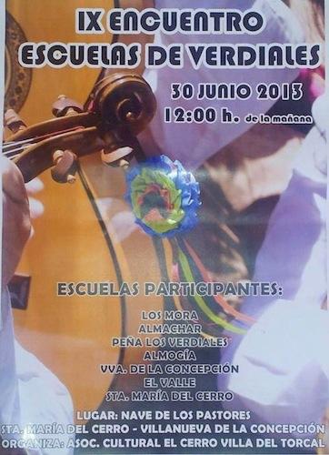Festival de escuelas de Verdiales en Santa María del Cerro