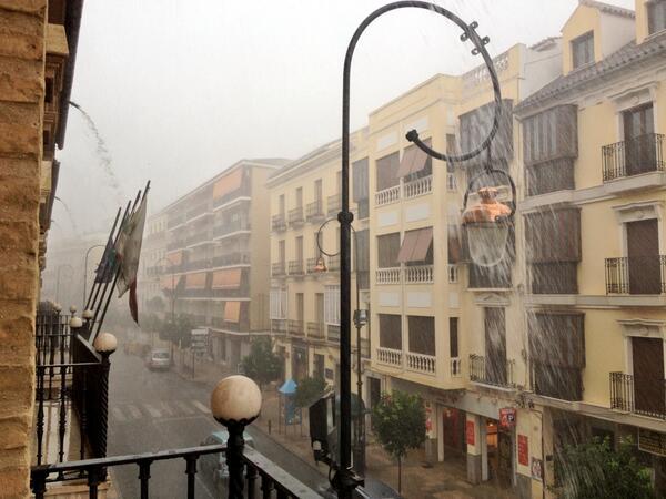 Lluvias en Antequera