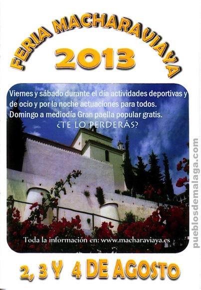 Cartel de la Feria de Macharaviaya 2013