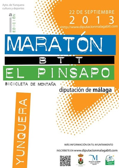 Cartel del Maratón BTT el Pinsapo 2013 en Ynquera