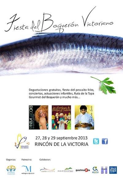 Cartel de la Fiesta del Boquerón de Rincón de la Victoria 2013