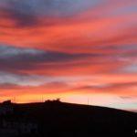 Sunset in the Barriada Pastelero of Malaga