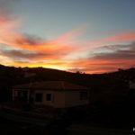 Coucher de soleil dans la Barriada Pastelero de Malaga