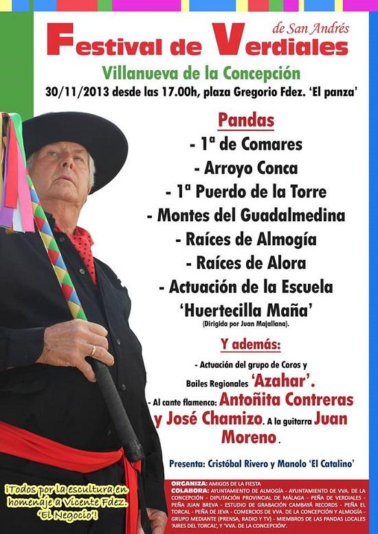 Festival de Verdiales de San Andrés en Villlanueva de la Concepción