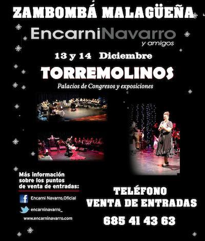 Zambombá en el Palacio de Congresos de Torremolinos los días 13 y 14 de Diciembre con Encarni Navarro