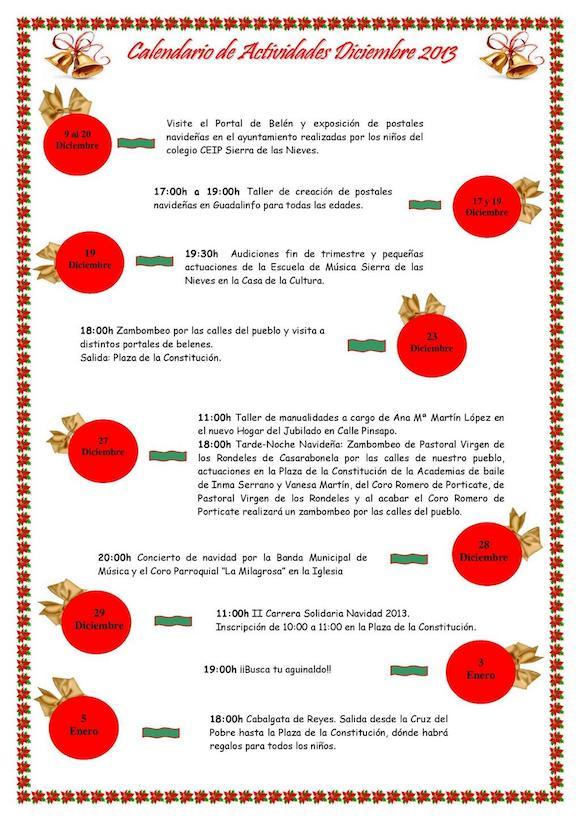 Programa de Navidad en Yunquera 2013-2014