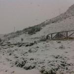 Galería de fotos de la nevada del sábado 29 de Marzo de 2014 en el Torcal de Antequera