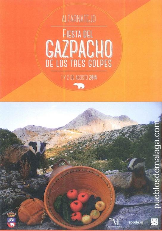 Fiesta del Gazpacho de los tres golpes en Alfarnatejo