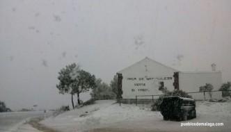 El Martes 20 de Enero por la tarde la nieve llegó a El Torcal de Antequera