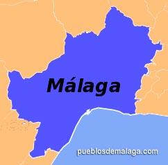 Lista de Pueblos de la Comarca de Malaga Costa del Sol en Málaga