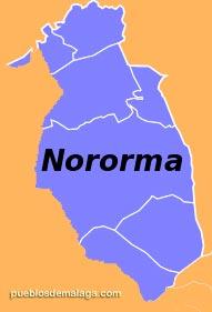 Lista de Pueblos de la Comarca Nororiental de Málaga (Nororma)