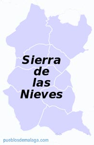 Lista de Pueblos de la Comarca de la Sierra de las Nieves en Málaga