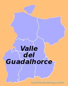 Lista de Pueblos de la Comarca del Valle del Guadalhorce en Málaga