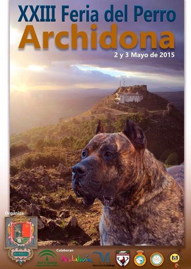 Cartel de la Feria del Perro 2015, que se celebrará los días 1, 2 y 3 de mayo
