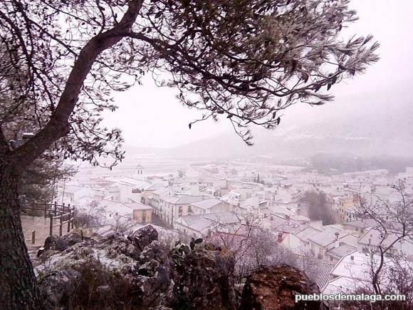 Alfarnate tras la nevada de Enero de 2015