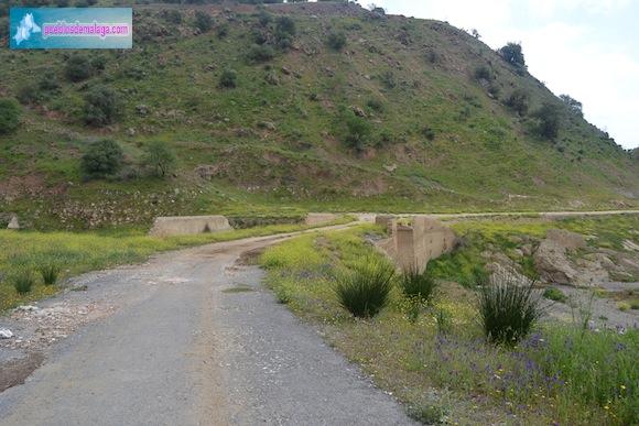"""""""Carretera Vieja"""" de Almogía en el Puente de Linares"""