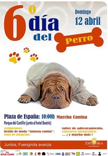 El Día del Perro se celebrará en PARQUE DEL CASTILLO (junto hotel Beatriz)