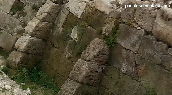 Detalle del muro helenístico de Cártama