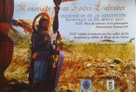 Romería de San Isidro en Villanueva de la Concepción