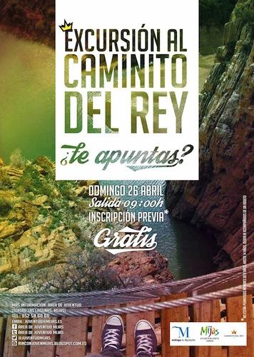 Viaje gratis a El Caminito del Rey para 50 jóvenes de Mijas