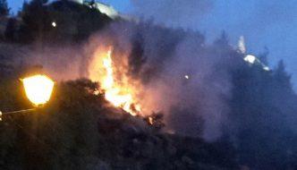 Incendio en la Sierra de la Ermita de Cártama