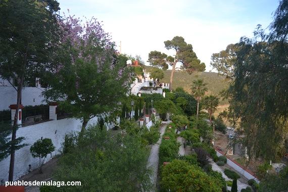 Jardines de la Casa de Trinidad Grund en Carratraca