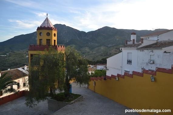 Torreón de la Casa de Trinidad Grund Heredia en Carratraca