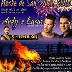 Concierto de Ady y Lucas en la Noche de San Juan 2015 en Torre del Mar y además espetos de sardinas, playita...