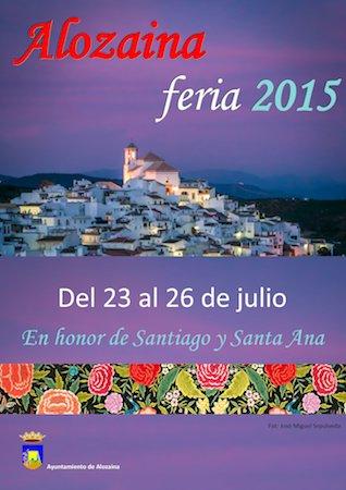 Cartel de la Feria de Alozaina 2015