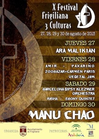 Cartel X Festival Frigiliana 3 Culturas