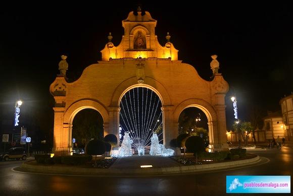 Alumbrado de Navidad en la Puerta de Estepa de Antequera