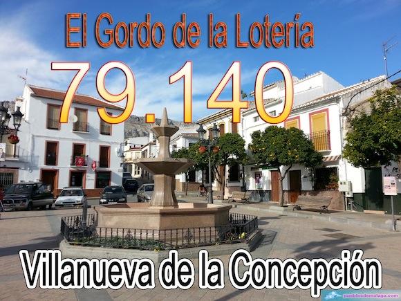 Primer premio de la Lotería de Navidad en Villanueva de la Concepción
