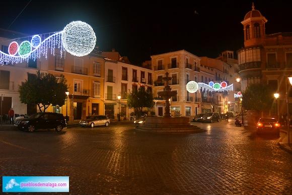 Plaza San sebastián - Alumbrado de Navidad Antequera 2015-2016