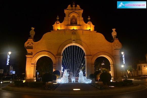 Luces de Navidad en la Puerta de Estepa de Antequera