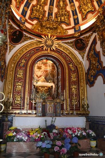Altar de la Ermita la Virgen de los Remedios de Cártama