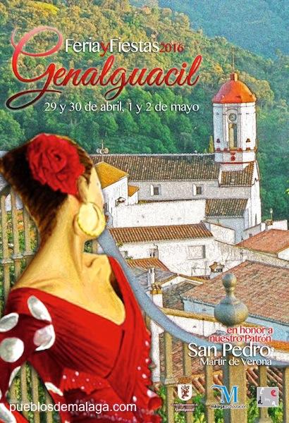 Cartel Feria y Fiestas Genalguacil en honor a su patrón San Pedro Mártir de Verona.