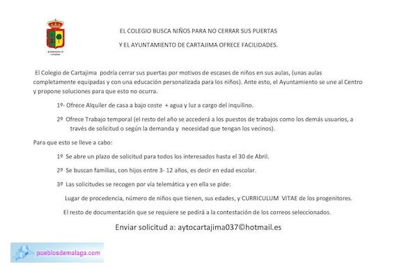 Comunicado del Ayuntamiento de Cartajima