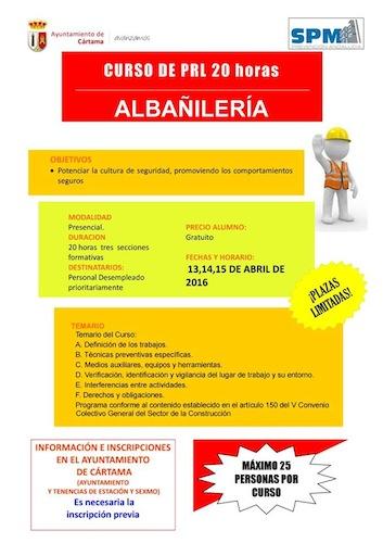Curso gratuito de Prevención de Riesgos Laborales en Cartama